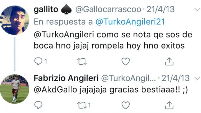 Fabricio Angileri es hincha de Boca