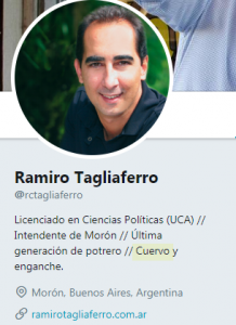 Ramiro Tagliaferro es hincha de san lorenzo