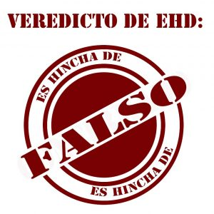 VEREDICTO ES FALSO