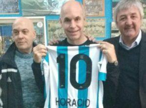 Horacio Rodríguez Larreta es hincha de