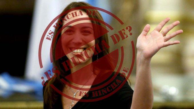 Maria Eugenia Vidal es hincha de boca