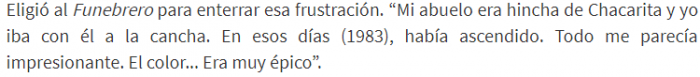 Javier Milei hincha de ...