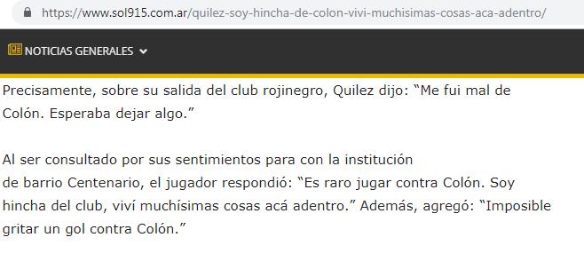 ismael quilez es hincha de colon