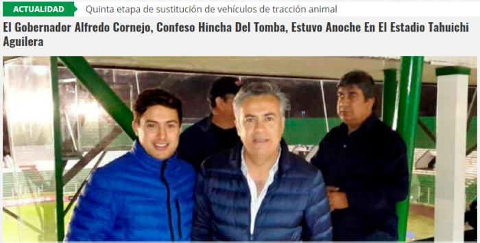 Alfredo Cornejo yendo a ver a su Tomba del alma