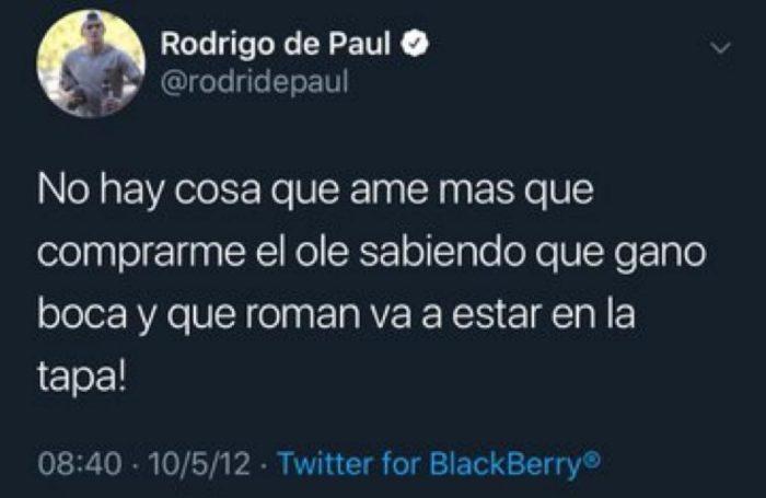 Rodrgio de Paul - Hincha de