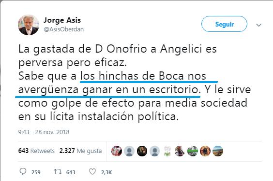 Jorge Asis hincha de