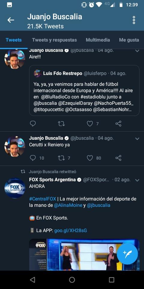 Juanjo Buscalia es hincha del cuervo