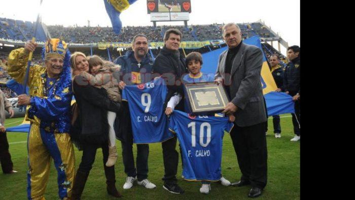 Carlin Hernan Calvo homenajeado en la Bombonera