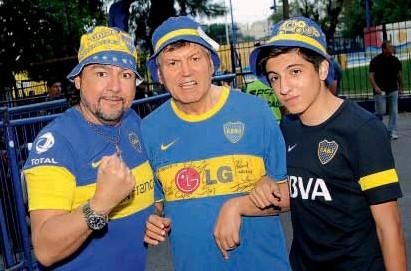 Carlin Hernan Calvo yendo a ver a Boca