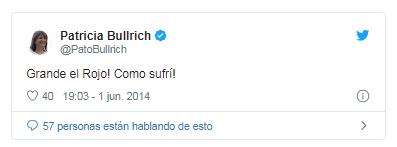 Patricia Bullrich es hincha de Independiente