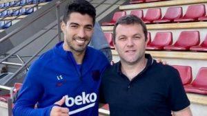 Luis Suarez hincha de San Lorenzo