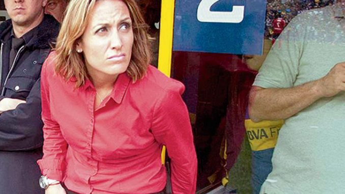 Florencia Arietto hincha de