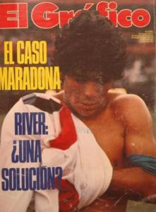 Maradona con al camiseta de River