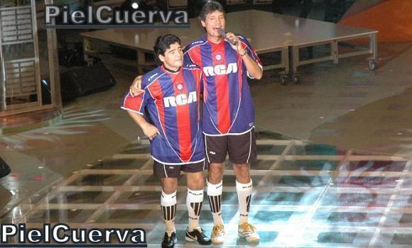 Maradona con la de San Lorenzo