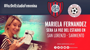 Mariela Fernandez hincha de San Lorenzo