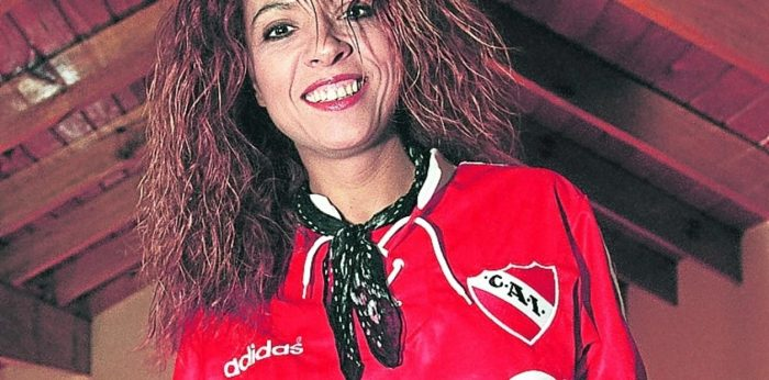 Patricia Sosa hincha de Independiente