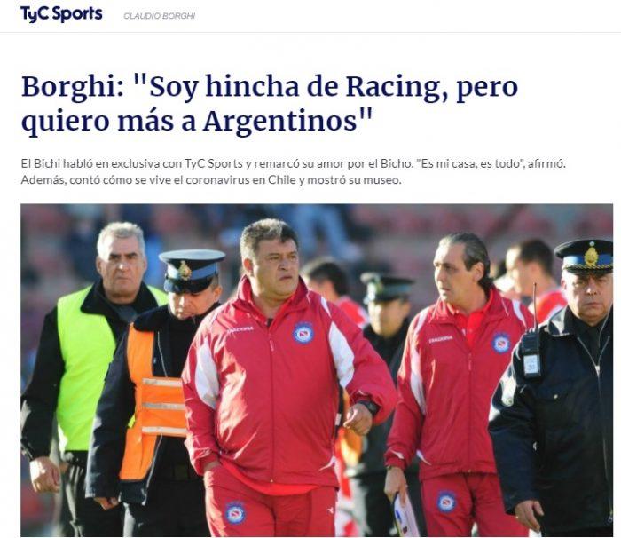 Bichi Borghi hincha de Racing