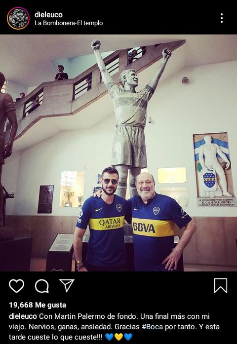 Diego Leuco hincha de Boca 2