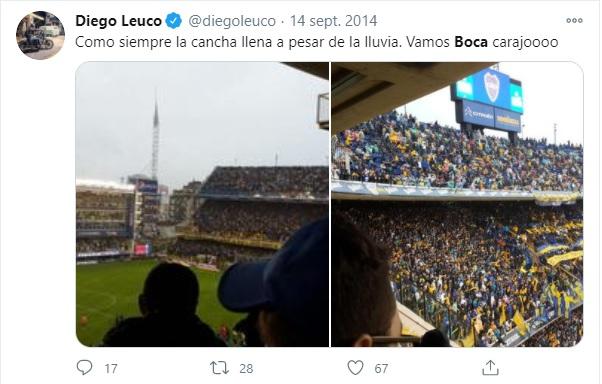 Diego Leuco hincha de Boca 1