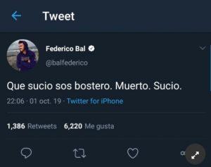 Fede Bal contra Boca