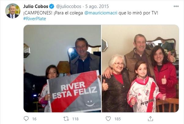 Julio Cobos hincha de River 3