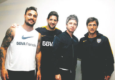 Noel Gallagher hincha de Boca 1