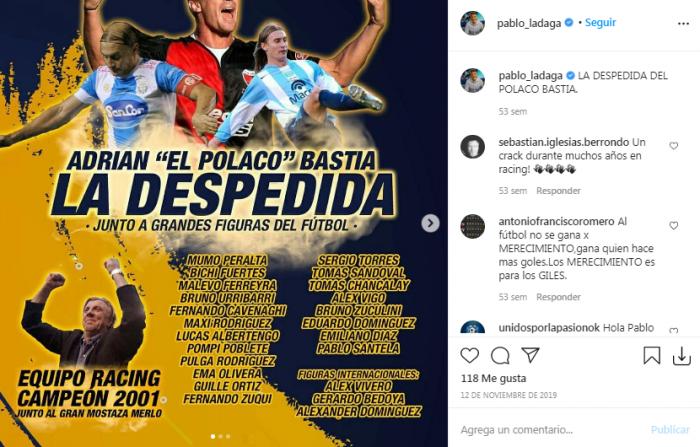 Pablo Ladaga hincha de Racing 1