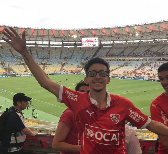 Rodrigo Noya hincha de Independiente Rey de Copas