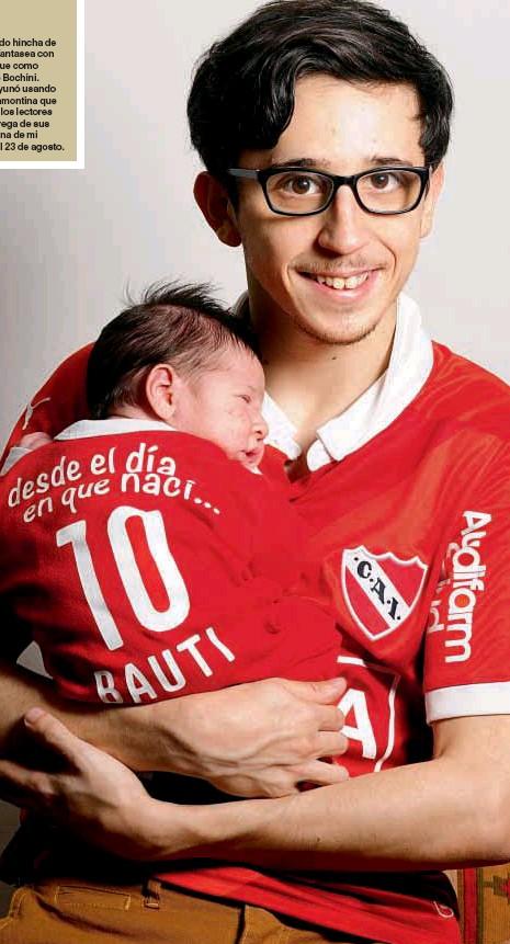 Rodrigo Noya hincha de Independiente de Avellaneda