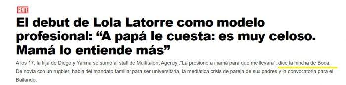 Lola Latorre hincha de Boca Juniors