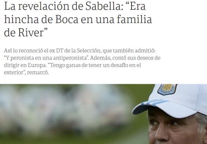 Alejandro Sabella hincha de Boca 1