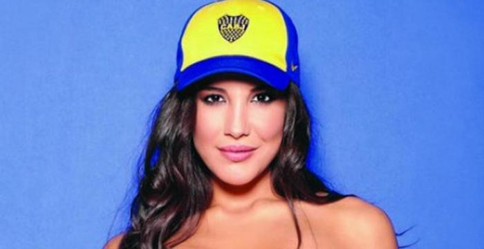 Andrea Rincon hincha de Boca 1