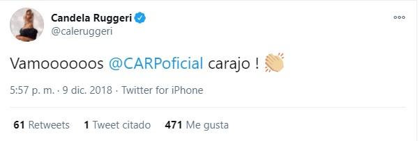 Cande Ruggeri hincha de River Plate 2021