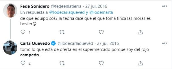 Carla Quevedo hincha de Independiente 2