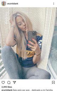 Erika Mitdank hincha de Boca