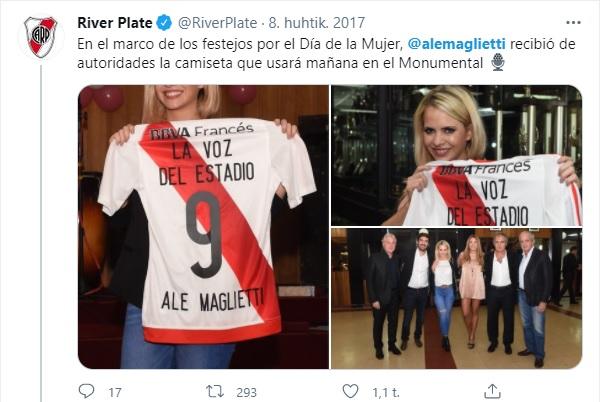 Alejandra Maglietti hincha de River 1