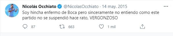Nicolas Occhiato hincha de Boca 3