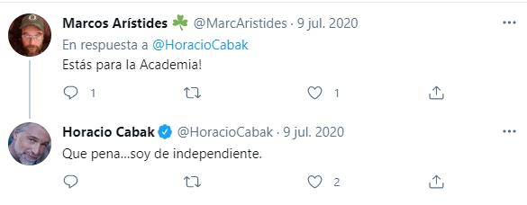 Horacio Cabak hincha de Independiente 1