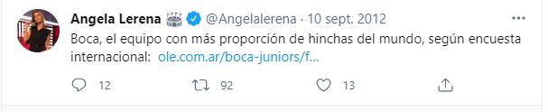Angela Lerena hincha de Boca 2