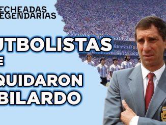 Futbolistas que liquidaron a Bilardo