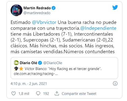 Martin Redrado hincha de Independiente 4