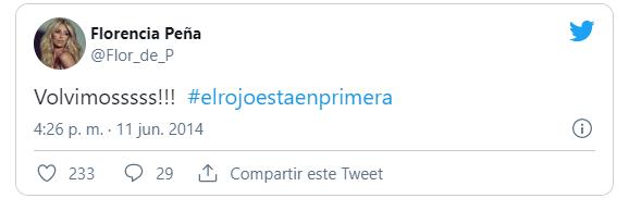 Florencia Peña hincha de Independiente 1