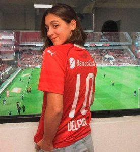 Delfina Pignatiello hincha de Independiente 4