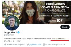Jorge Macri hincha de River 4