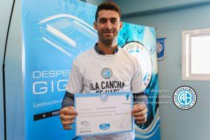 Pechito Lopez hincha de Belgrano 1