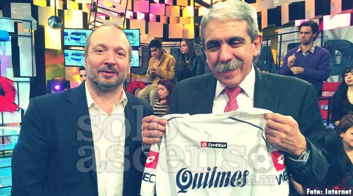 Anibal Fernandez hincha de Quilmes 1