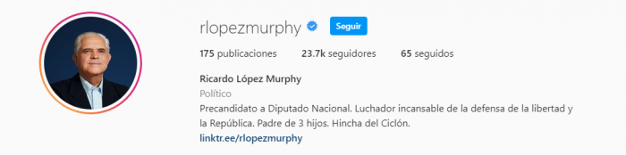 Ricardo Lopez Murphy hincha de